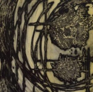 solar plate etching print abstract